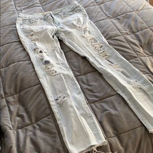 Forever 21 Ripped-Light Wash Jeans